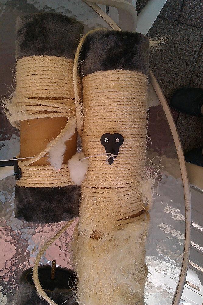 Krabpaal touw vervangen